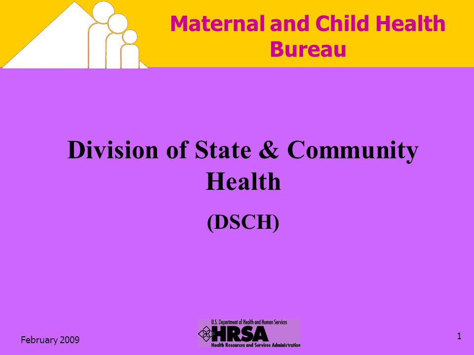 February Maternal and Child Health Bureau Division of State & Community Health (DSCH)