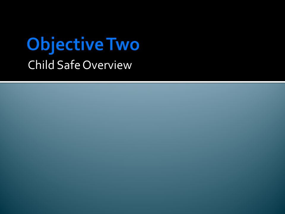 Child Safe Overview