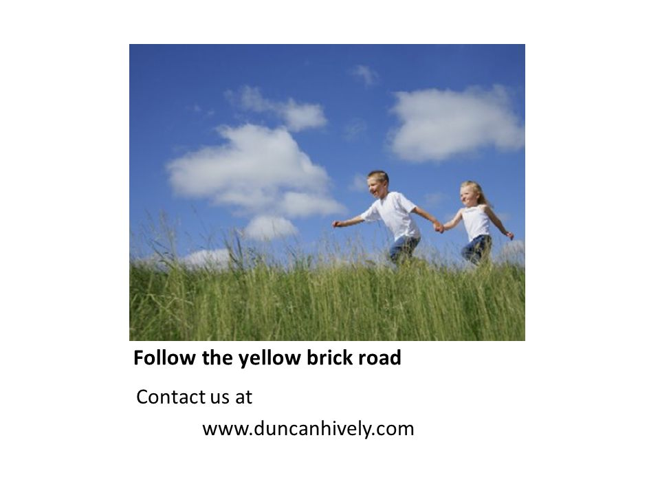 Follow the yellow brick road Contact us at www.duncanhively.com