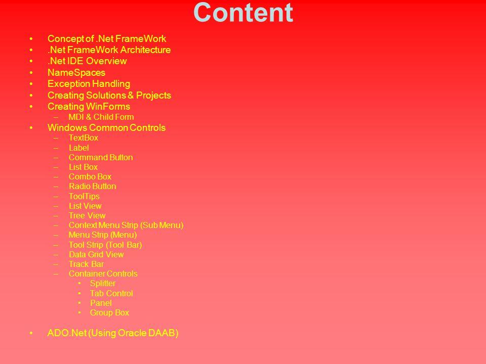 Session on Net  Content Concept of Net FrameWork Net