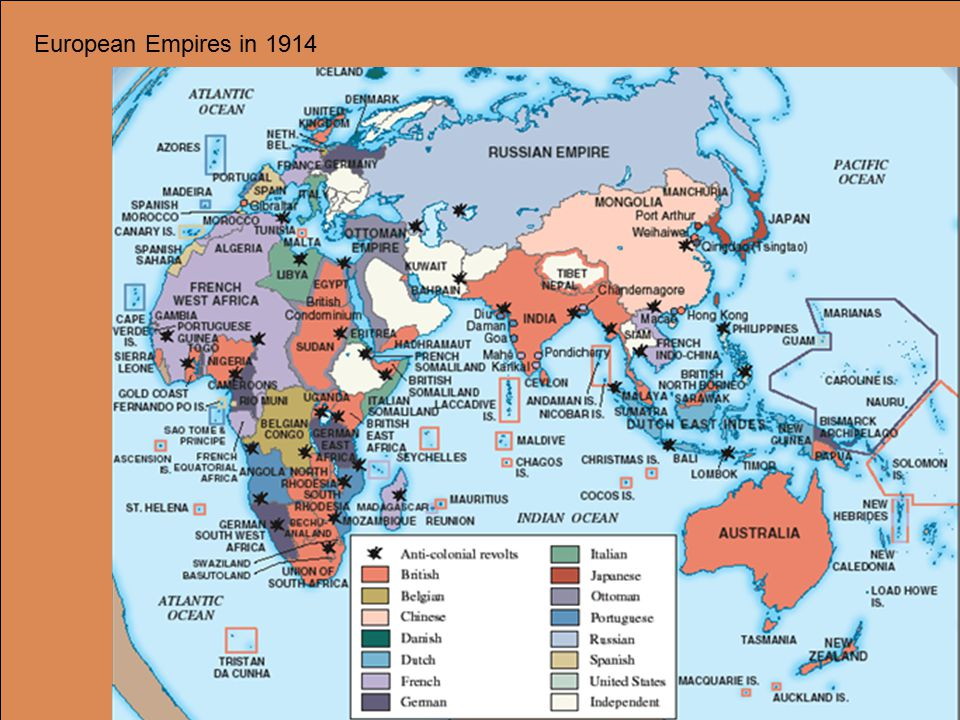 European Empires in 1914