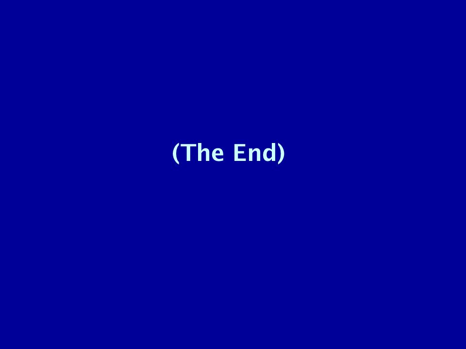 (The End)