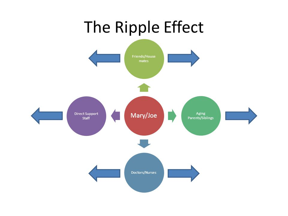 The Ripple Effect Mary/Joe Friends/House mates Aging Parents/Siblings Doctors/Nurses Direct Support Staff