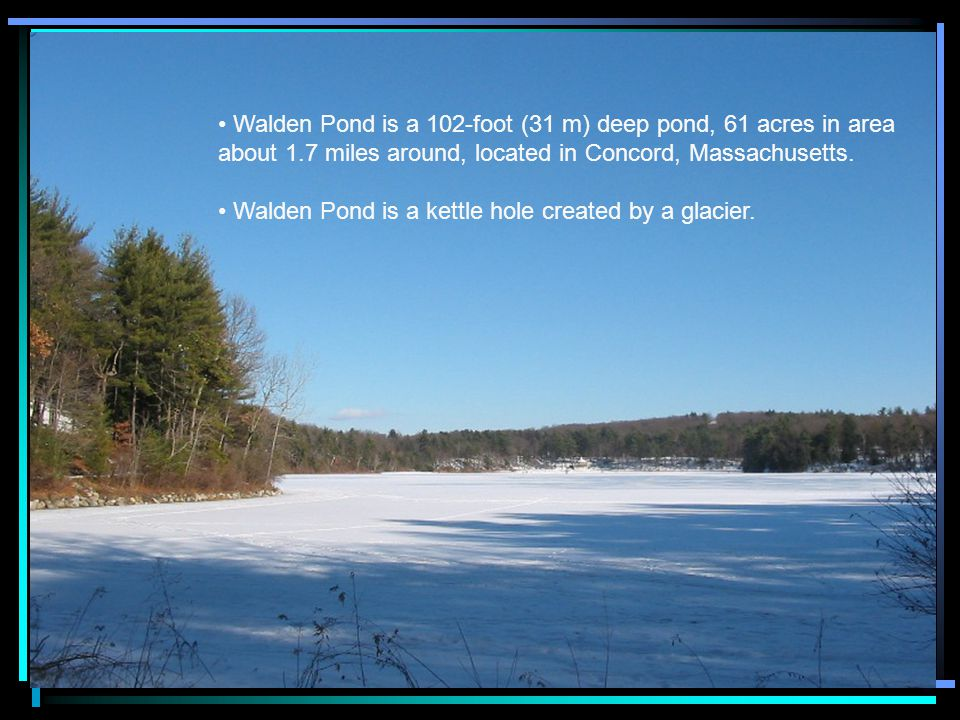 Thoreau said after being at Walden Pond Henry David Thoreau lived at Walden Pond from July 4, 1845 to September 6, 1847 (2 year, 2 months, and 2 days) He liked to hike through the woods near his home.