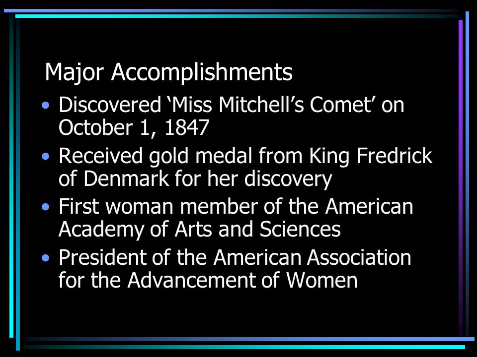 Education Maria went to the School for Young Ladies She was taught by her astronomer father Learned from books at The Nantucket Atheneum In 1853, awarded the first advanced degree to a woman from Indiana Hanover College