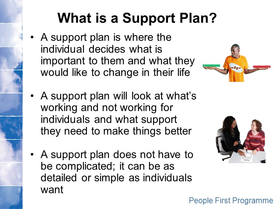 planning support for individuals