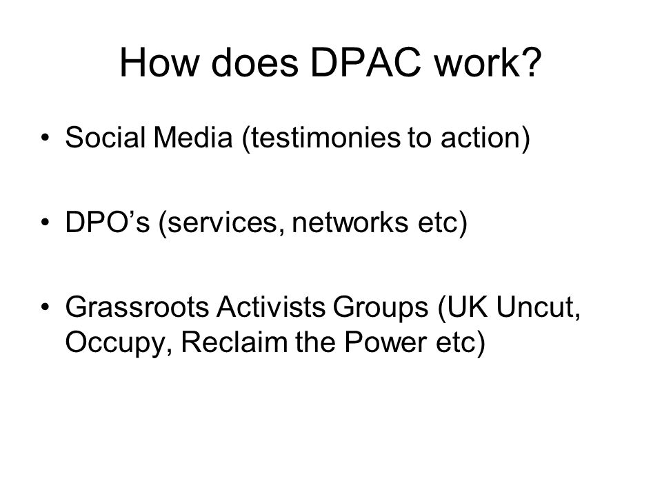 How does DPAC work.