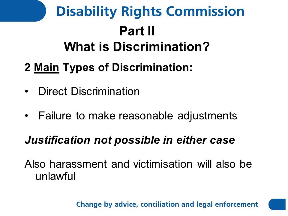 Part II What is Discrimination.