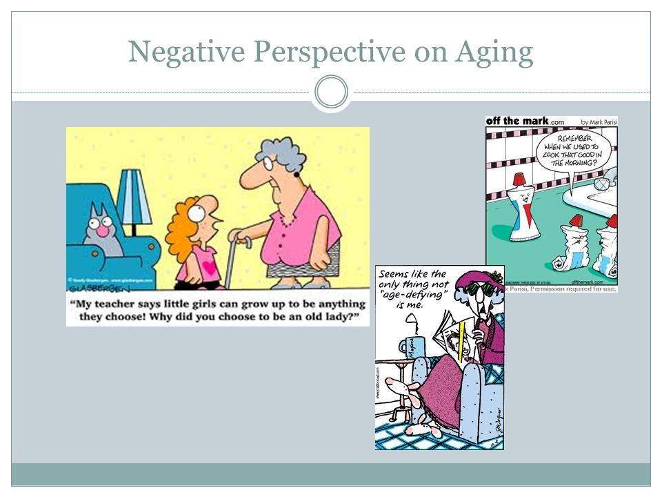 Negative Perspective on Aging
