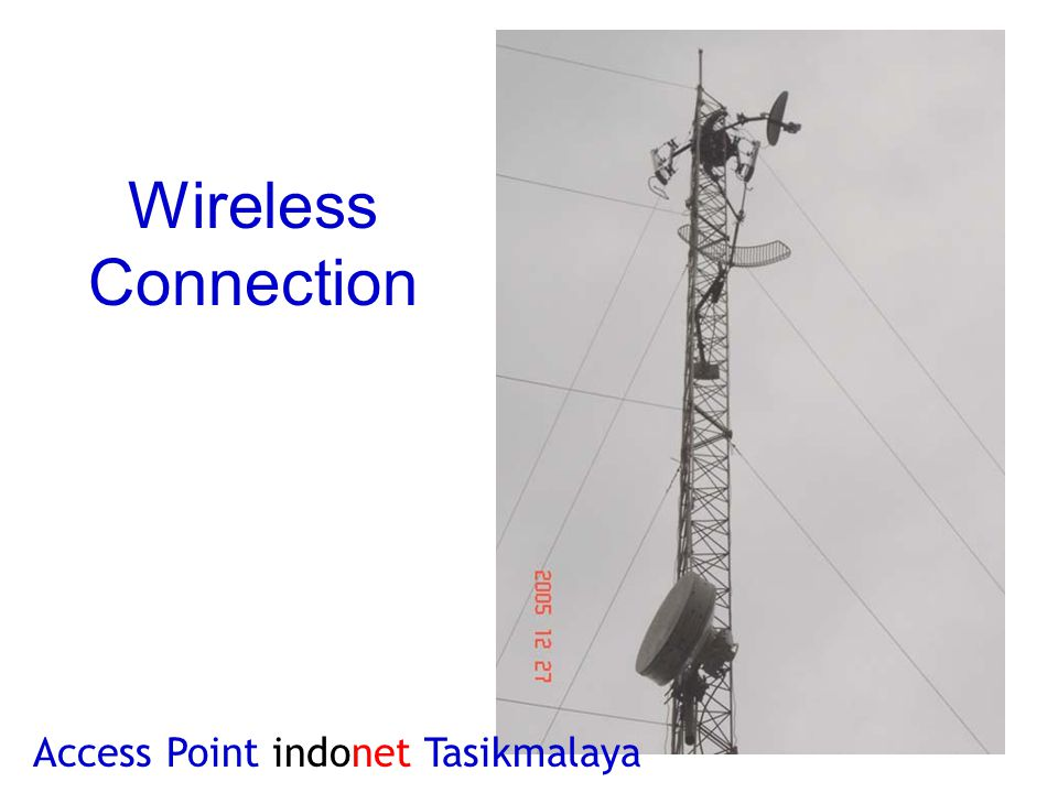 Wireless Connection Access Point indonet Tasikmalaya