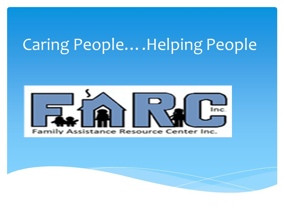 Caring People….Helping People