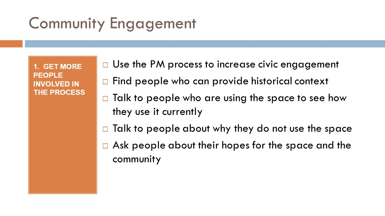 Community Engagement 1.