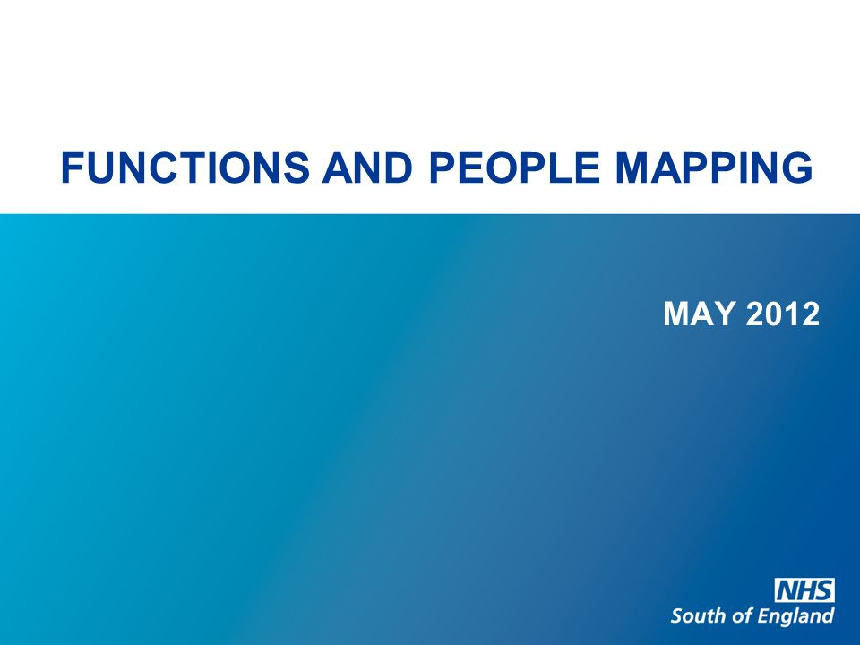 FUNCTIONS AND PEOPLE MAPPING MAY 2012