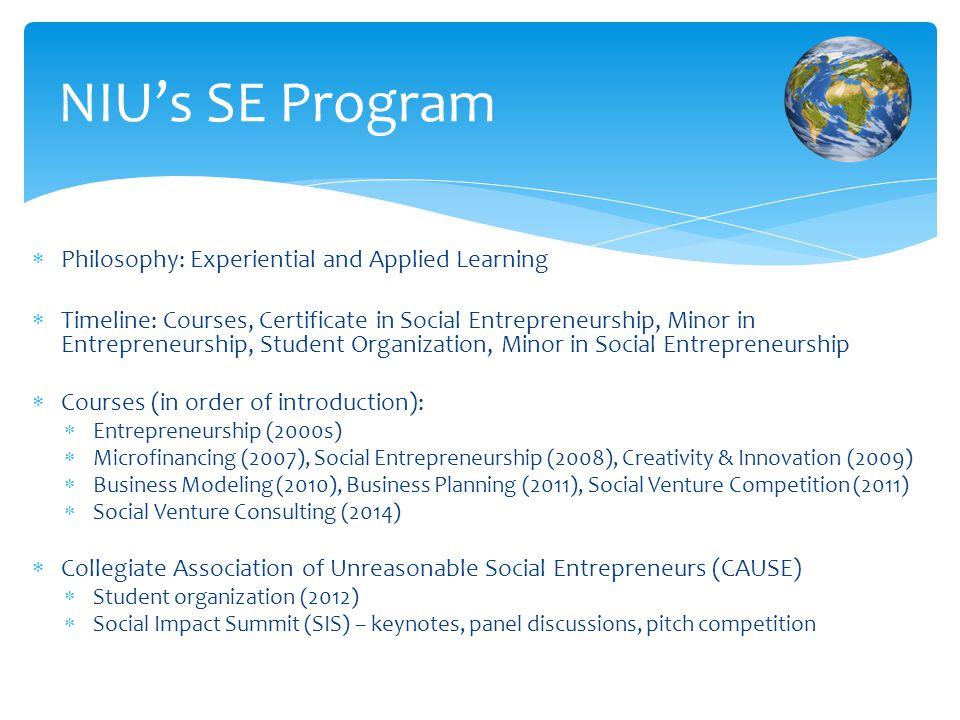 Social Entrepreneurship Developing A Program For The Next
