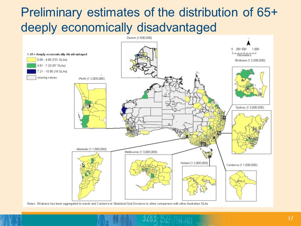 17 Preliminary estimates of the distribution of 65+ deeply economically disadvantaged