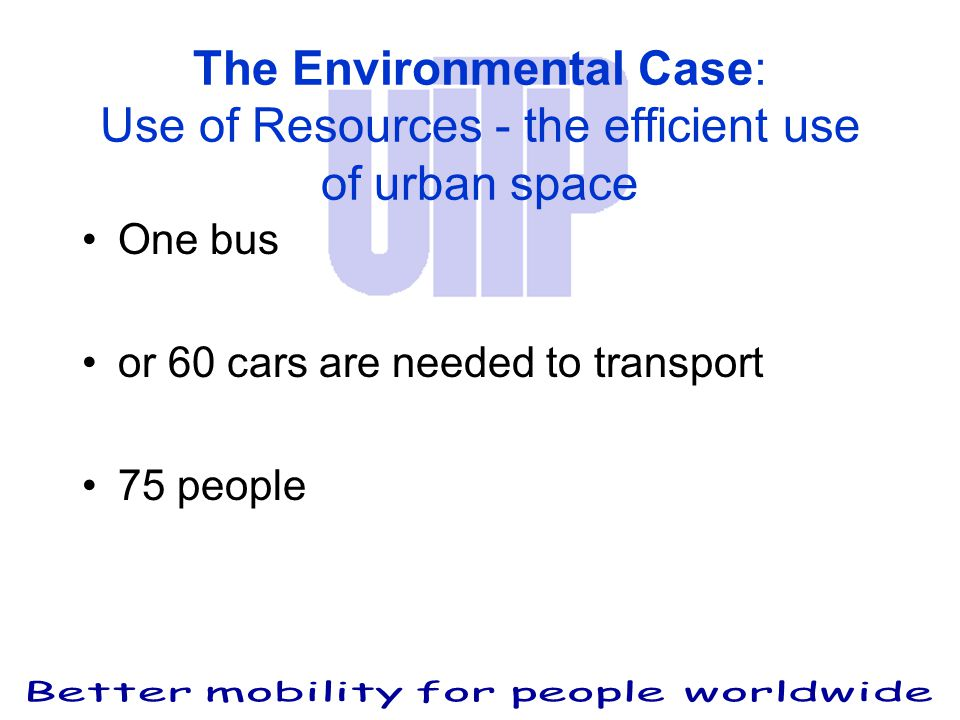 One bus or 60 cars are needed to transport 75 people