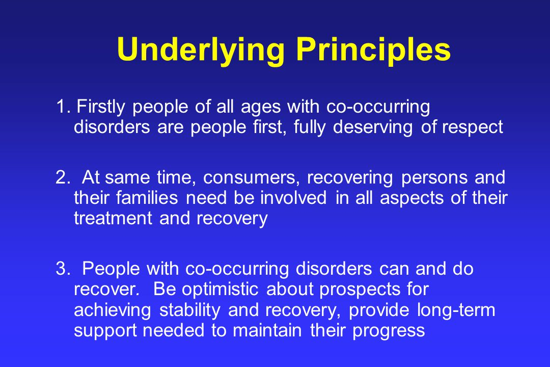 Underlying Principles 1.