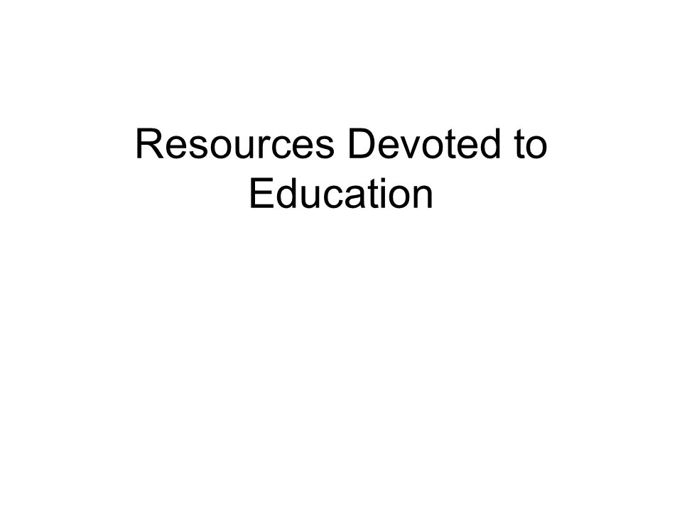 Resources Devoted to Education