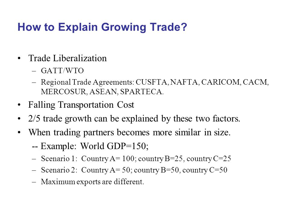 How to Explain Growing Trade.