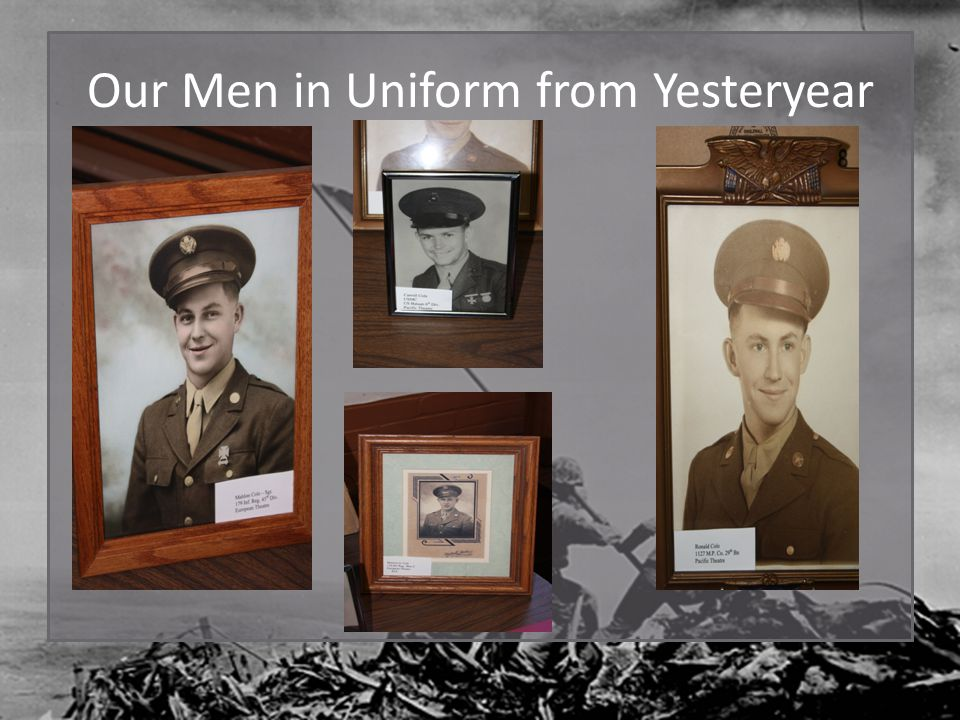 Our Men in Uniform from Yesteryear