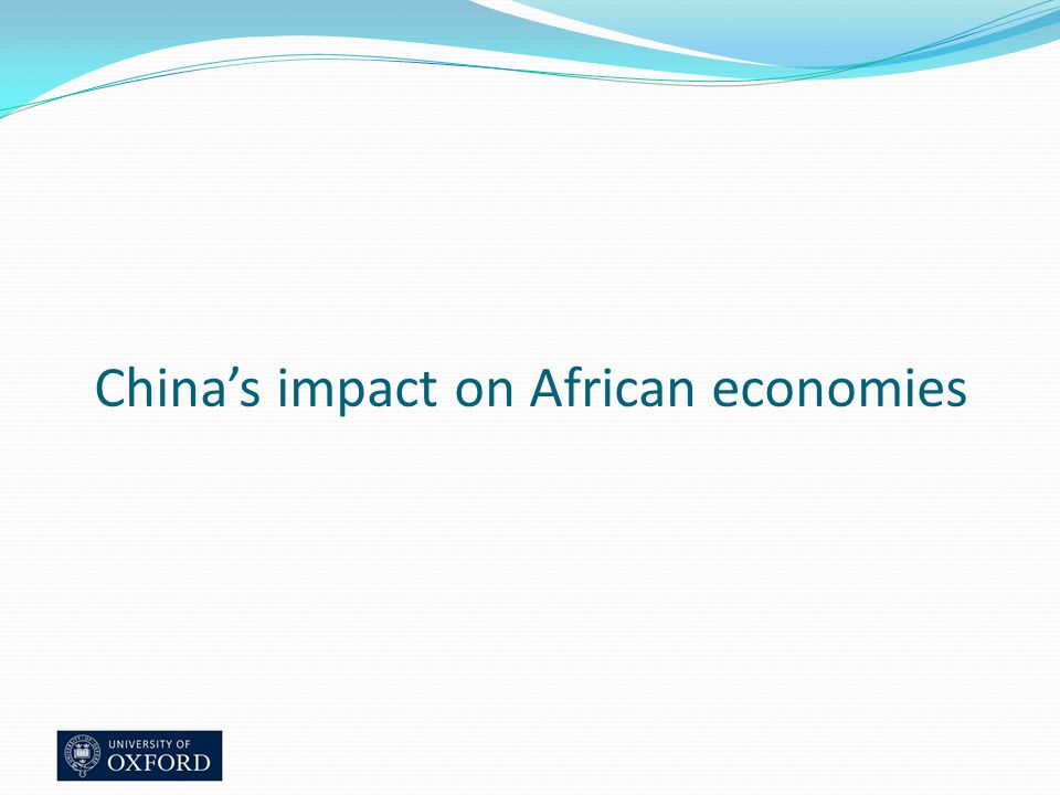 China's impact on African economies