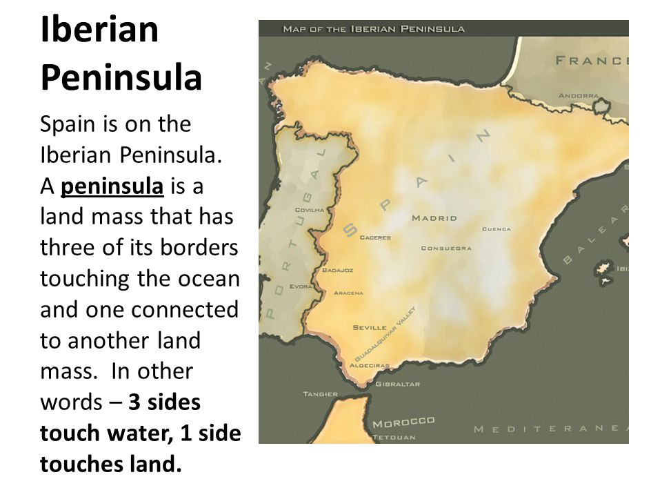 Spain The Road To The New World Iberian Peninsula Spain Is On