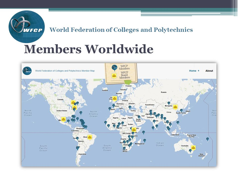 World Federation of Colleges and Polytechnics Members Worldwide