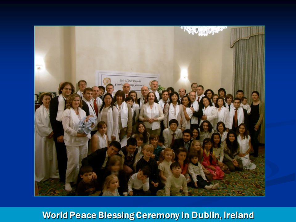 World Peace Blessing Ceremony in Dublin, Ireland