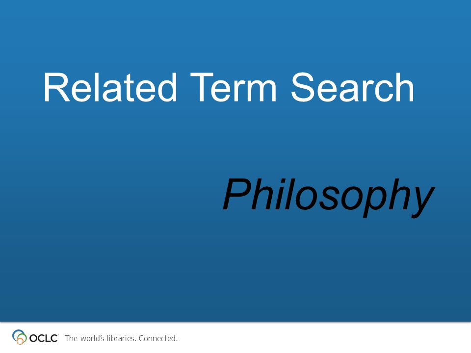 Philosophy Related Term Search