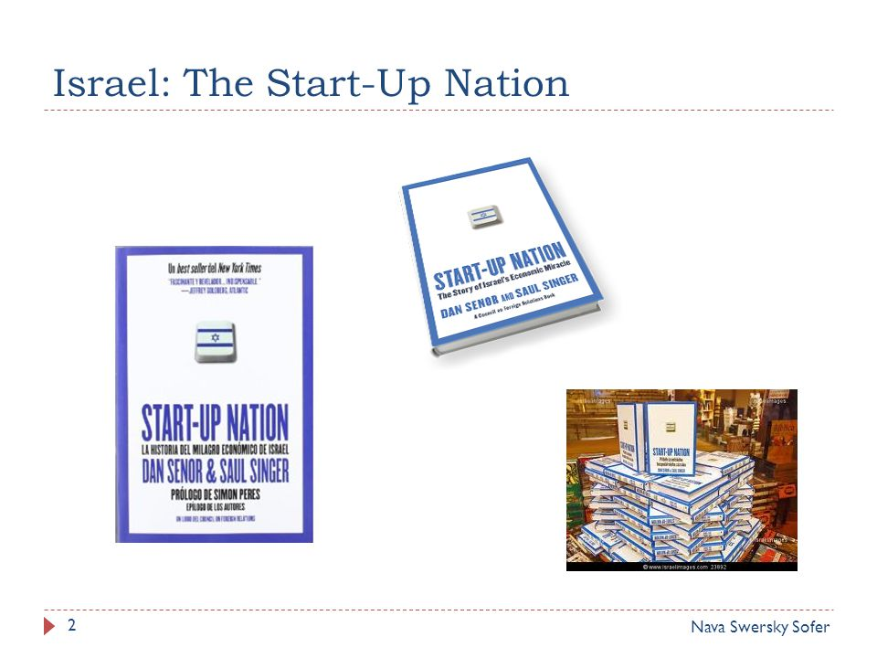 Israel: The Start-Up Nation 2 Nava Swersky Sofer