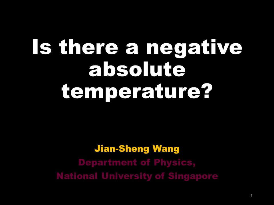 Is there a negative absolute temperature.