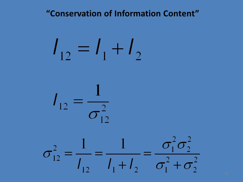Conservation of Information Content 33