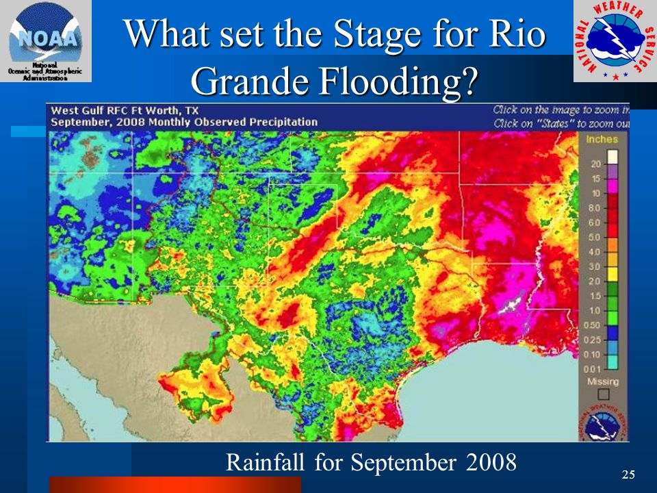 What set the Stage for Rio Grande Flooding Rainfall for September 2008 25
