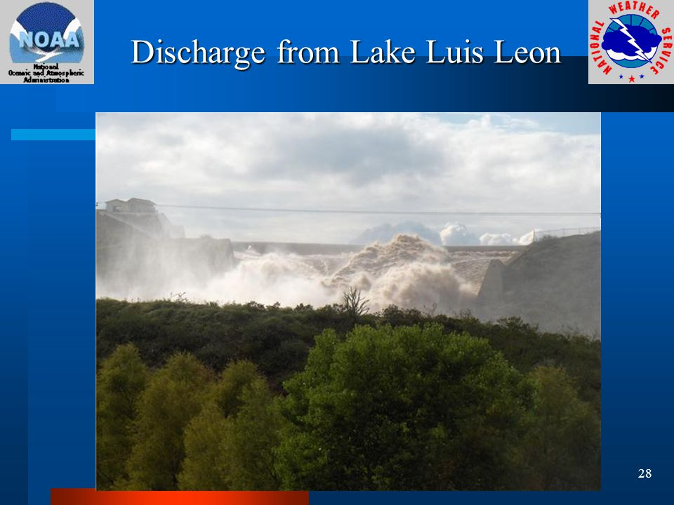Discharge from Lake Luis Leon 28