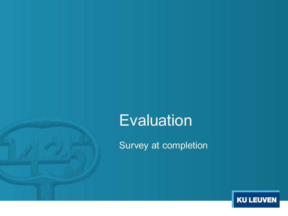 Evaluation Survey at completion