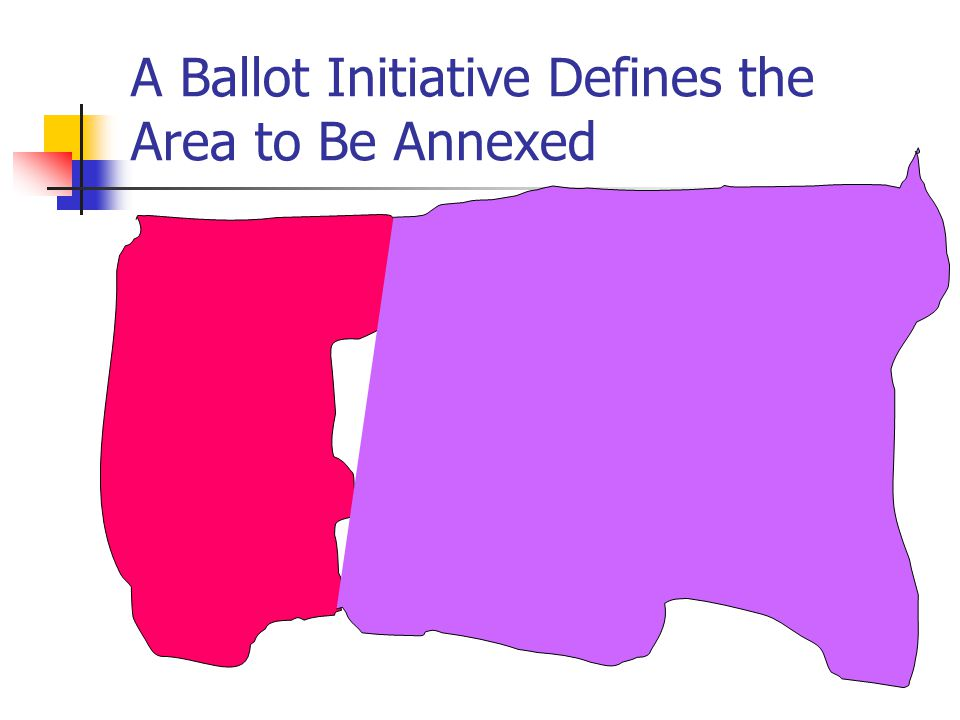 A Ballot Initiative Defines the Area to Be Annexed