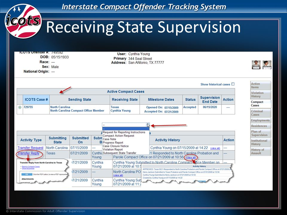 Receiving State Supervision