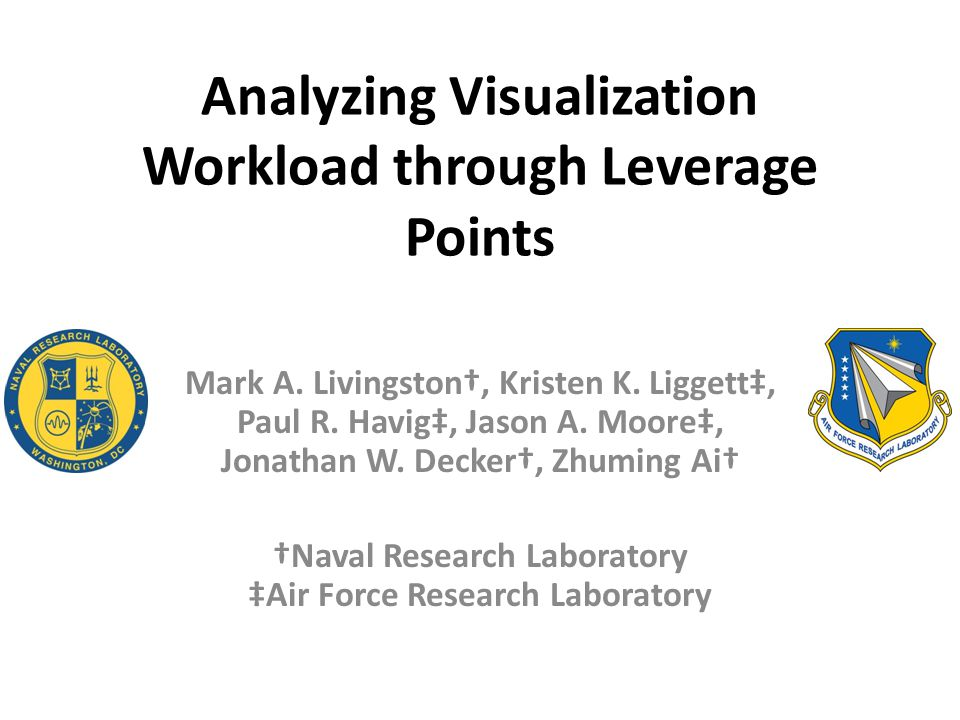 Analyzing Visualization Workload through Leverage Points Mark A.