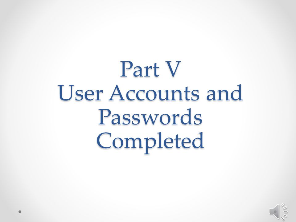 Part V: User Accounts and Passwords Section V.2: Managing Passwords – continued o To Change Your Security Question: 7.Login to Eureka using your user name and password 8.Click on Help from the menu bar at the top of the screen 9.Click on Change Security Question 10.Follow the prompts to change your security question and/or answer 8 9