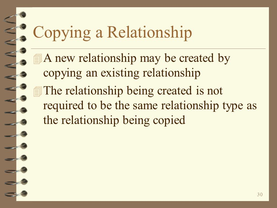 29 Maintaining Existing Relationships The component comment screen is similar to DMAS item relationship maintenance The user may change the comment component values Return to Work with Item Relationships After updating a component (pressing the Enter key the second time), the next component in the relationship is automatically displayed