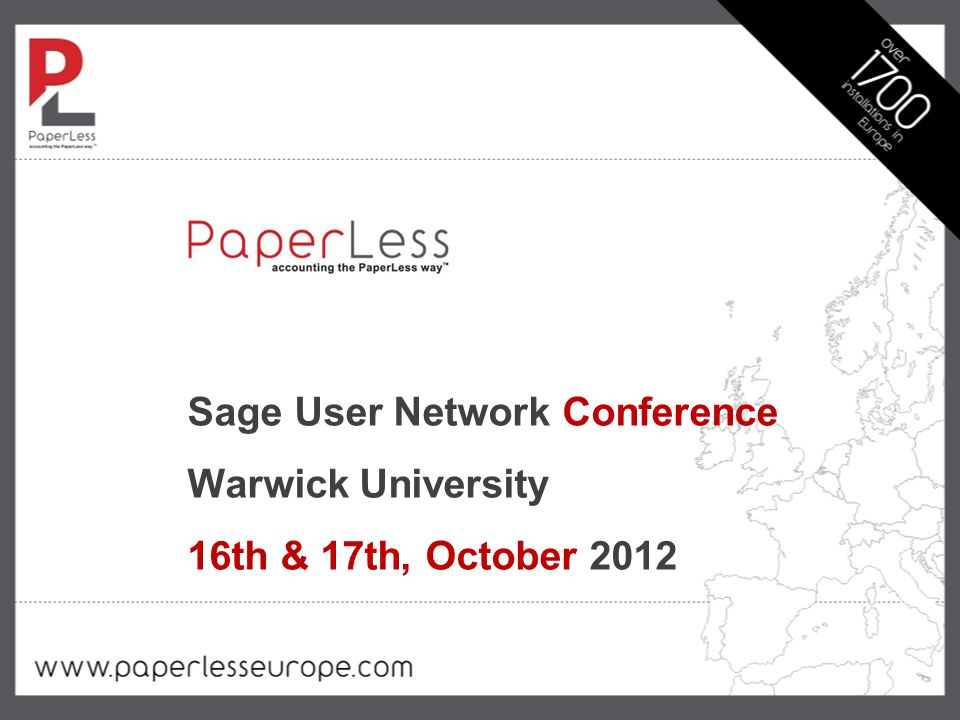 Sage User Network Conference Warwick University 16th & 17th, October 2012