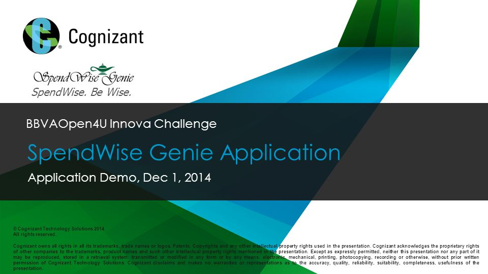 © 2014 Cognizant © Cognizant Technology Solutions 2014.