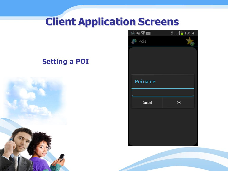 Setting a POI Client Application Screens