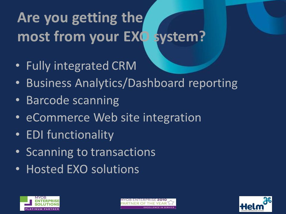 Are you getting the most from your EXO system.