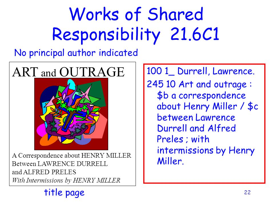 22 Works of Shared Responsibility 21.6C _ Durrell, Lawrence.