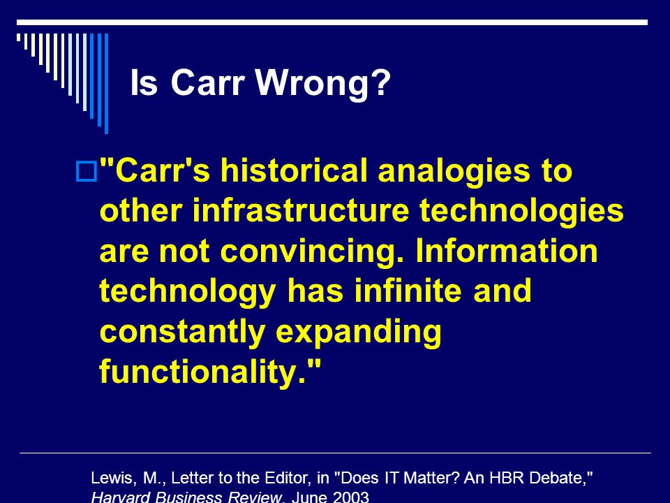 Is Carr Wrong.