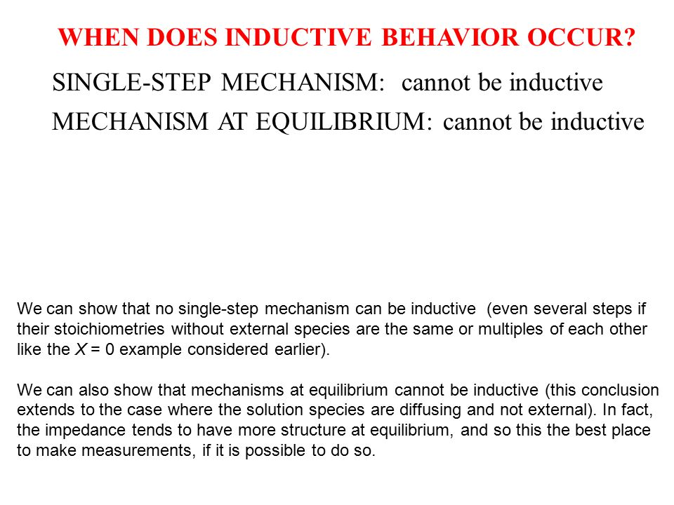 WHEN DOES INDUCTIVE BEHAVIOR OCCUR.