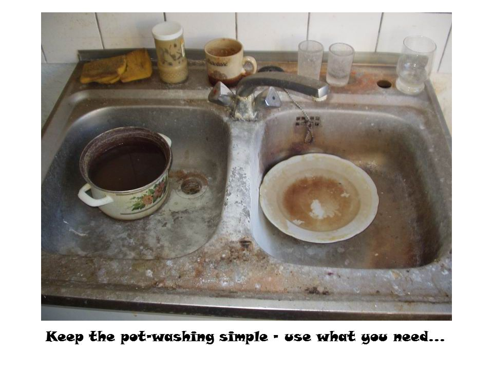 Keep the pot-washing simple - use what you need...