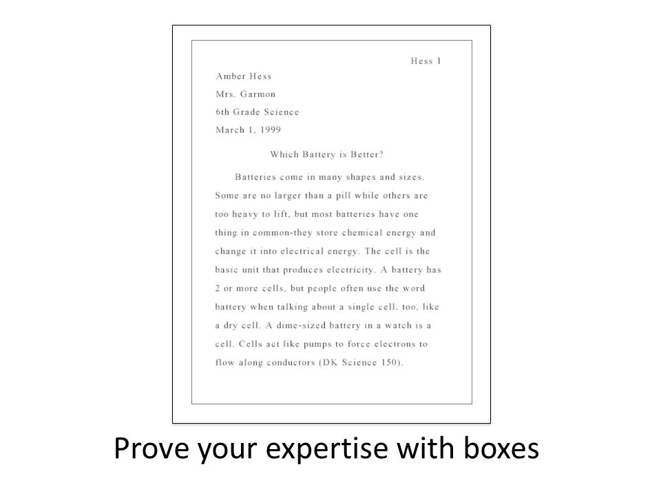 Prove your expertise with boxes