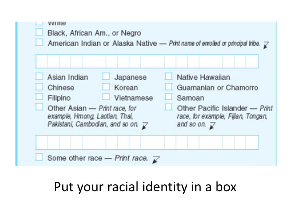 Put your racial identity in a box
